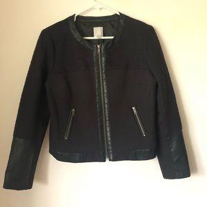 Halogen Black Zip Up Jacket Size Medium